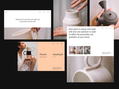 Sallyb. grid whitespace website design minimal clean layout typography