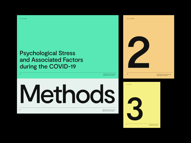 Research Article—COVID 19 color modern grid typo design minimal clean layout typography