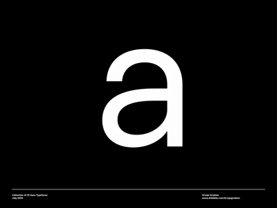 Collection of 25 Sans Typefaces foundry typo typefaces typeface fonts font inspiration typography