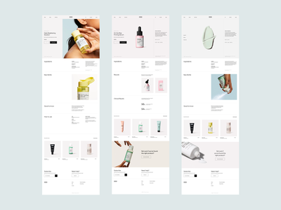 VERSED shop redesign elegant website grid layout cosmetics beauty shopify shop ecommerce