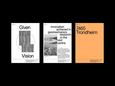 7465 Trondheim brutalist design brutalist whitespace sans layout design grid layout typographic grid layout typography