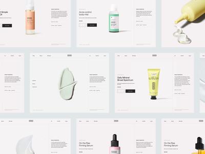 VERSED shop redesign header whitespace website design minimal clean layout typography