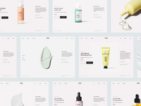 VERSED shop redesign header whitespace website design minimal clean layout typography