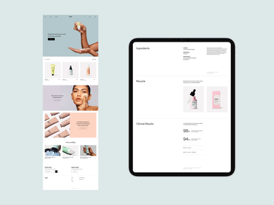 VERSED shop redesign ecommerce shopify website whitespace design minimal clean layout typography