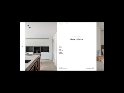 Jan Rösler Architekten grid header architecture whitespace website design minimal clean layout typography
