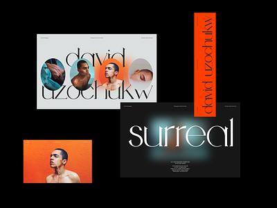 David Uzochukw—Surreal Series branding header whitespace website design minimal clean layout typography