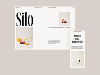 Farmhouse modern header grid whitespace website minimal clean layout typography