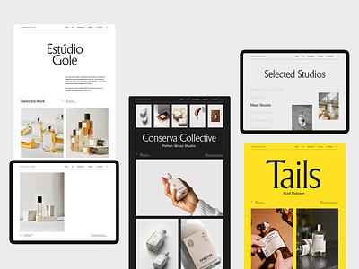 Branding Inspiration Platform web header grid whitespace website design minimal clean layout typography