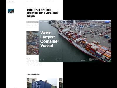 Cargo Logistics Website & Branding website animation header slider slider header animation header grid transition website website design animation layout typography