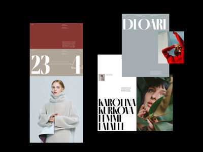 Deoare Lookbook Artdirection editorial fashion grid whitespace design minimal clean layout typography