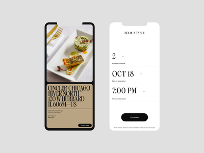 Restaurant Booking responsive booking restaurant mobile