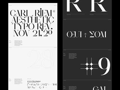 Ampersand Type Presentation font grid whitespace design minimal clean layout typography