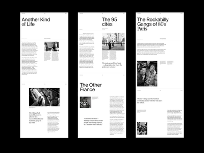 Layout exploration grid whitespace website minimal clean layout typography