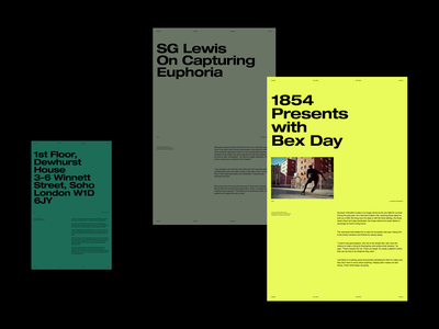 Layout & Color Variations color grid whitespace website design minimal clean layout typography