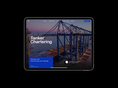 Cargo Logistics — Rejected Files web design cargo header grid web website layout typography