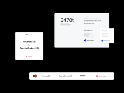 Cargo Logistics — Rejected Files components modules website design minimal clean layout typography