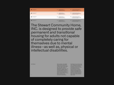 The Stewart Community Home simple swiss grid whitespace design minimal clean layout typography