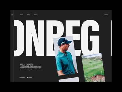 Doonbeg—Golf Club web design slider scroll header transition motion animation clean layout typography
