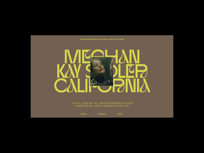 Meghan Kay Sadler color palette experimental colorful type color website whitespace design layout typography