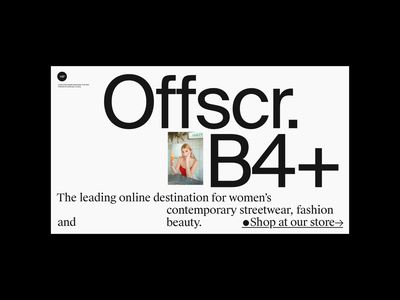Offscr. header web grid whitespace website design minimal clean layout typography