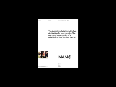 MAM® Magazine grid whitespace website design minimal clean layout typography