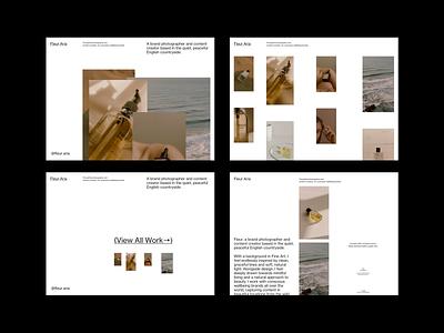 Fleur Aria Portfolio web grid whitespace website design minimal clean layout typography photography website photography