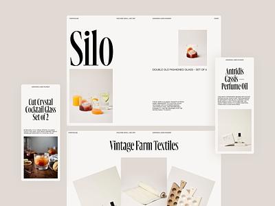 Farmhouse clean layout typography serif mobile responsive website design minimal whitespace light website