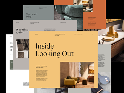 Layouts interior serif whitespace header website design minimal clean layout typography