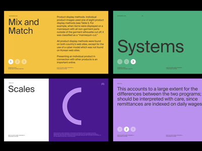 Color & Layout System color palette color grid whitespace design minimal clean layout typography