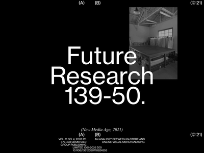 Future Research kinetictype animation 2d grid whitespace motion animation design minimal clean layout typography