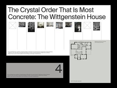 Wittgenstein sans grid architecture whitespace website design minimal clean layout typography