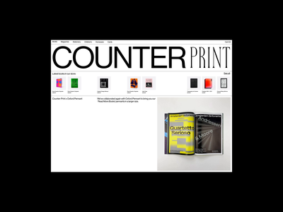Counter Print design minimal clean layout motion graphics whitespace animation website typography