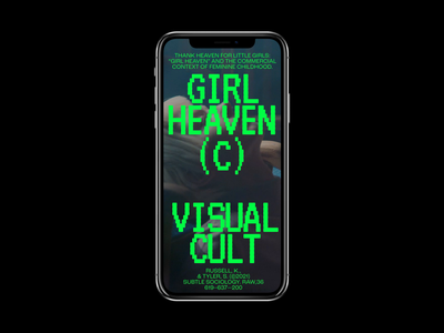 Girl Heaven branding video animation minimal layout motion interactive mobile typography