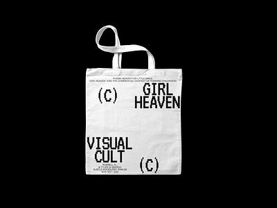 Girl Heaven typo type whitespace minimal tote bag tote branding typography