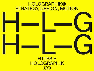HOLOGRAPHIK® holographik yellow design minimal clean layout typography