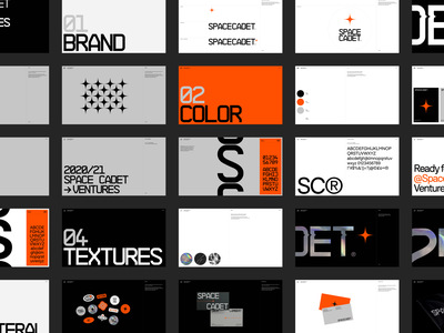 Space Cadet Ventures design brand guidelines branding layout typography