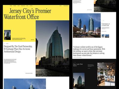 10Exchange whitespace website design minimal clean layout typography