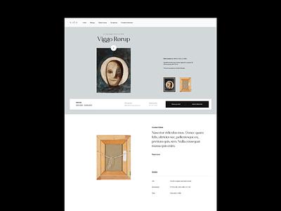 Art Platform service art minimal whitespace art platform artdirection layout typography website