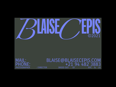 Blaise Cepis brand type typo identity logo branding typography