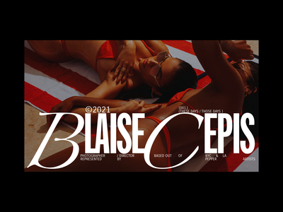 Blaise Cepis photography motion interaction website web type layout typography