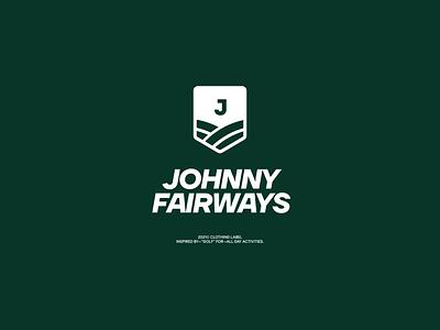 Johnny Fairways bold type logotype design logo brand branding typography
