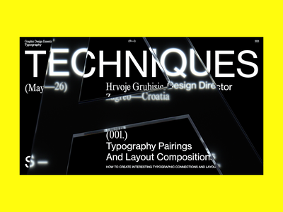TECHNIQUES typo type font layout typography