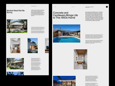 The Local Project whitespace minimal clean type architecture website layout typography