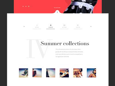 Fashion website fashion web website layout clean minimal typography flat modern red