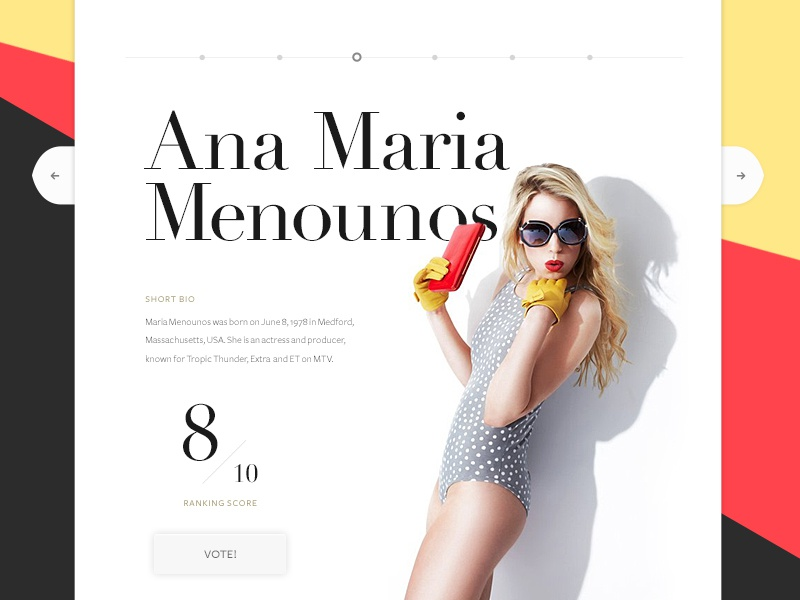 Fashion website slider fashion website web layout profile design slider simple minimal branding black typography