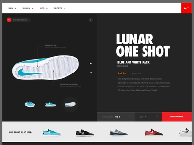 Nike Webshop - Concept nike webshop gallery design slider clean minimal flat website typography ui layout