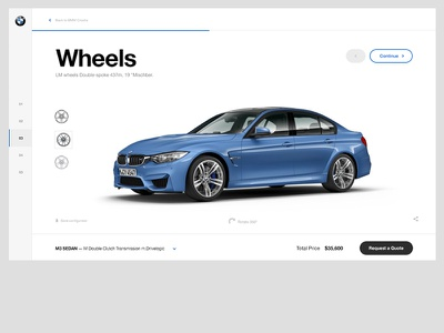 BMW — Car Configurator typography clean navigation slider layout desig ui configurator car website bmw