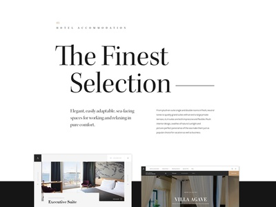 Adriatic Luxury Hotels — Case Study grid inspiration casestudy design layout typography clean website hotel