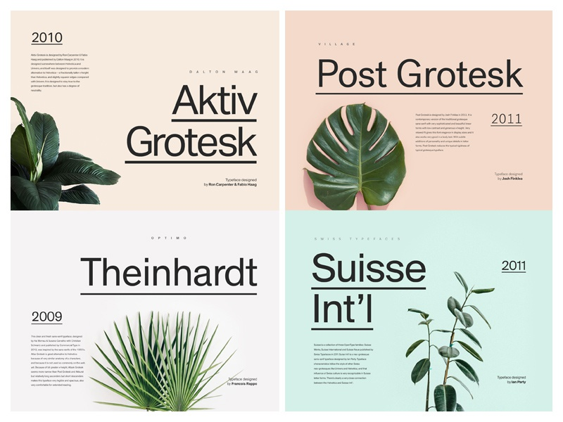 6 Alternatives to Helvetica typo grid design minimal fonts font layout typography