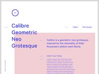 Calibre Typetesting